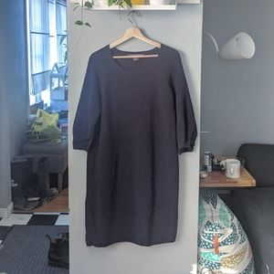 French Connection Mozart Ripple Dress in Navy